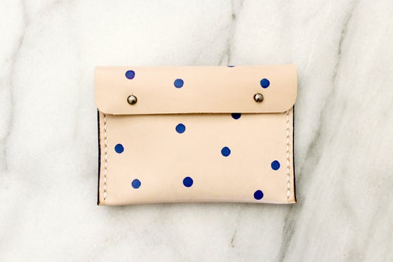 Image of Dotted Leather Pouch