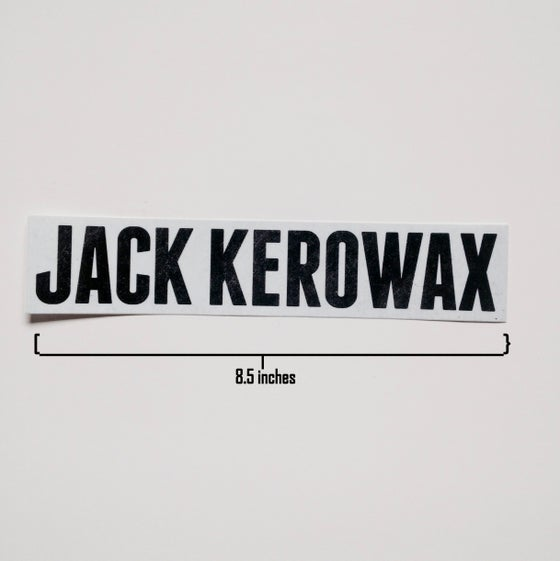 "Image of ""Jack Kerowax"" Bumper Sticker"