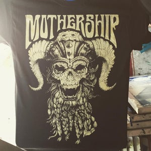 Image of Mothership -Viking Skull Gold T-Shirt