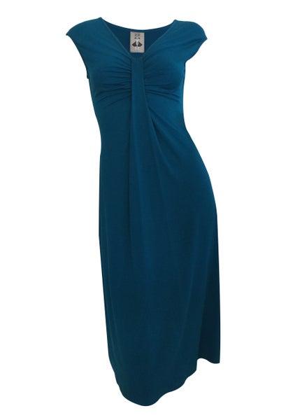 Image of Pacific dress, flattering deep pleated dress