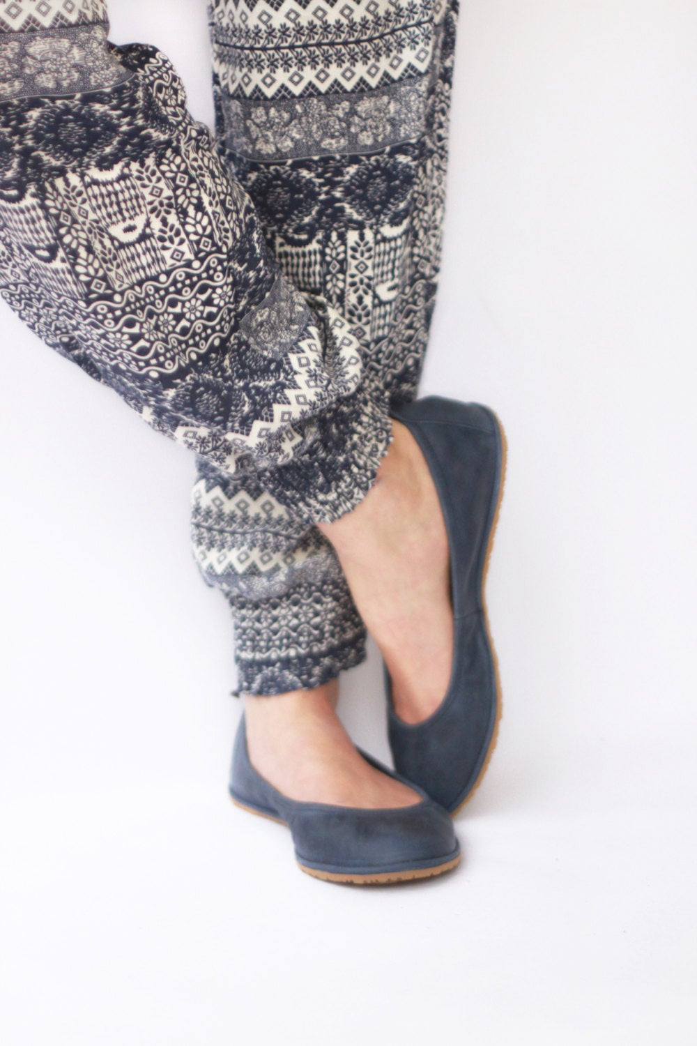 Image of Ballet flats - Eko in Navy Blue