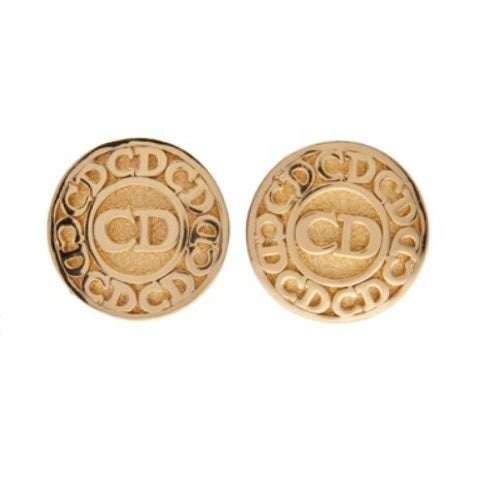 Image of SOLD OUT Christian Dior Logo Authentic Signed Earrings - 1980's