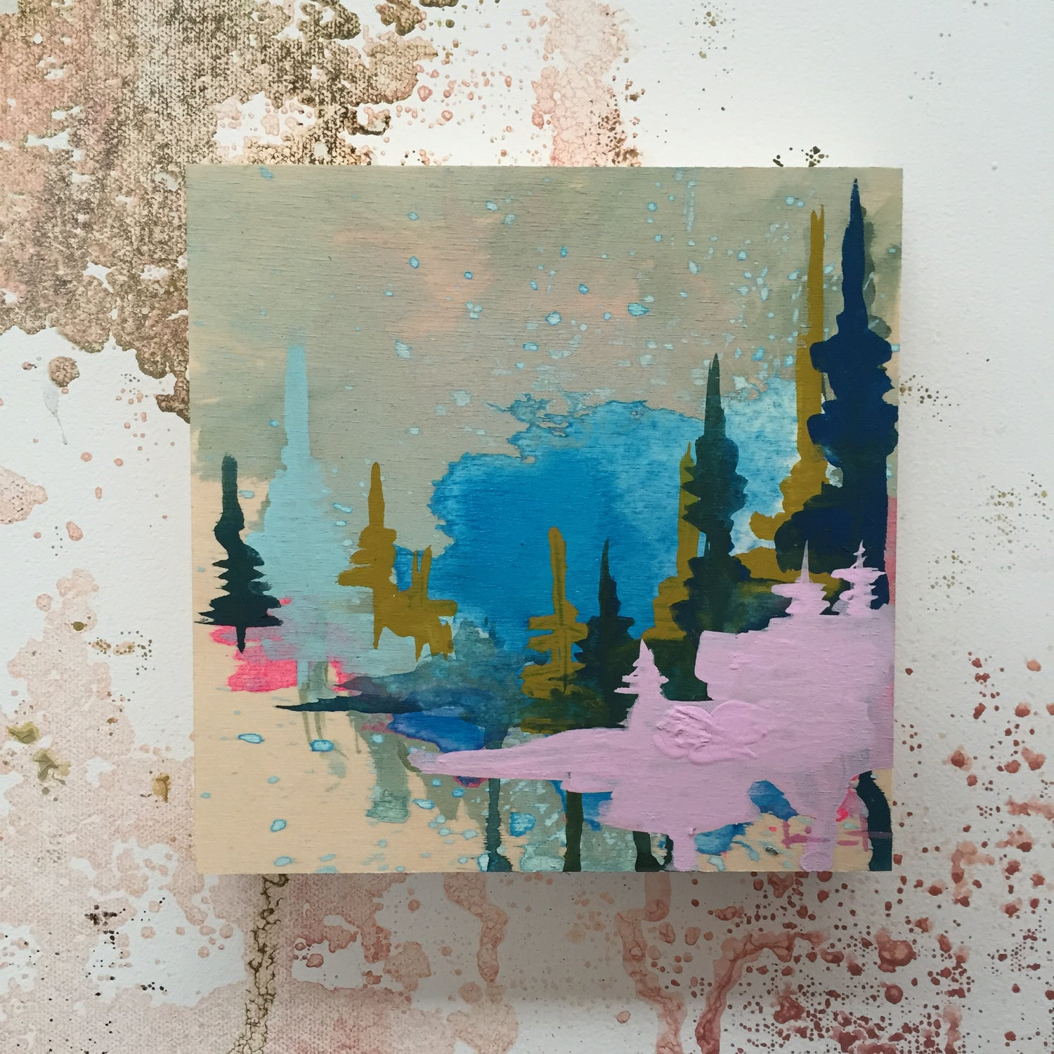 Image of Tiny Painting No. 2 (lavender, cerulean)