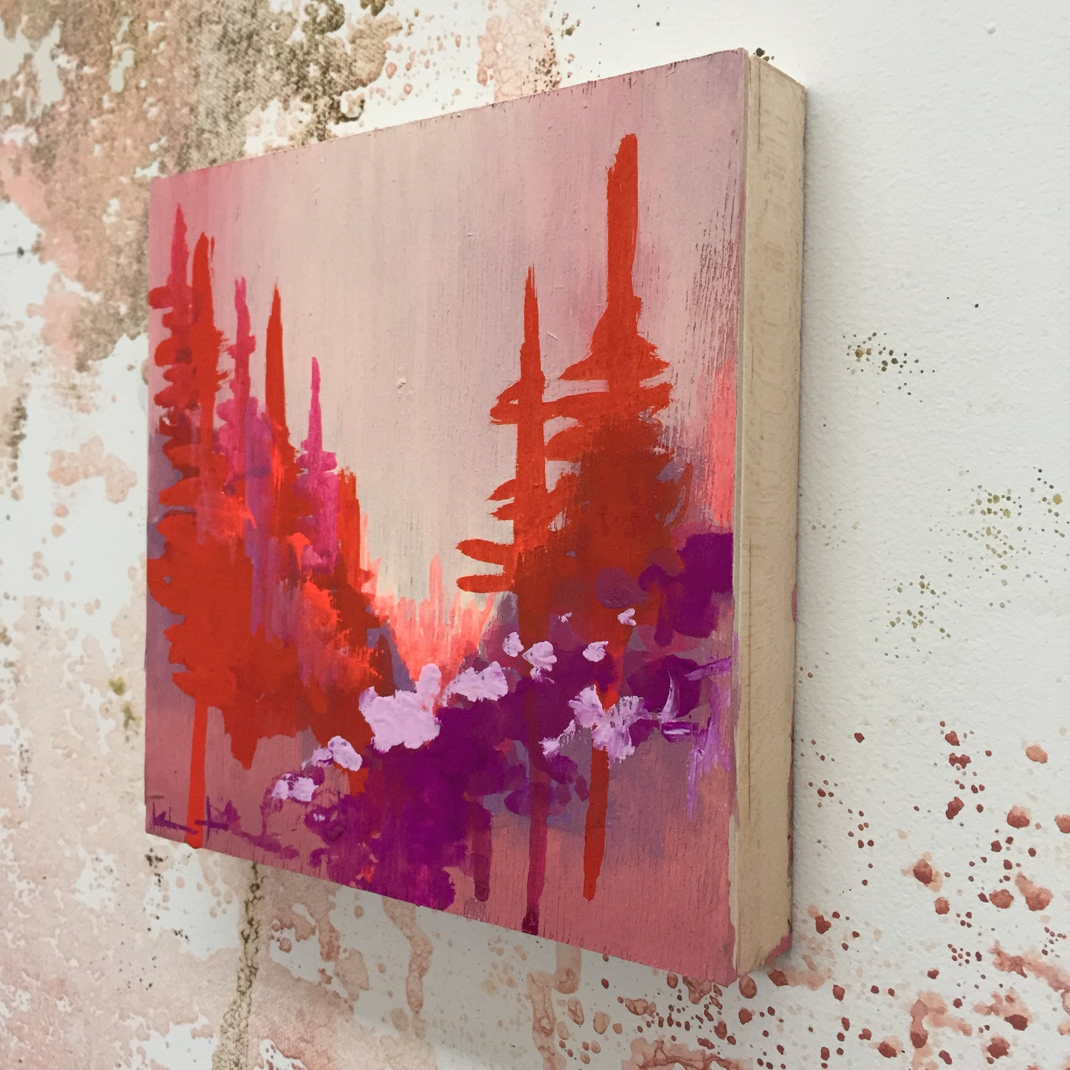 Image of Tiny Painting No. 5 (vermilion, lavender)