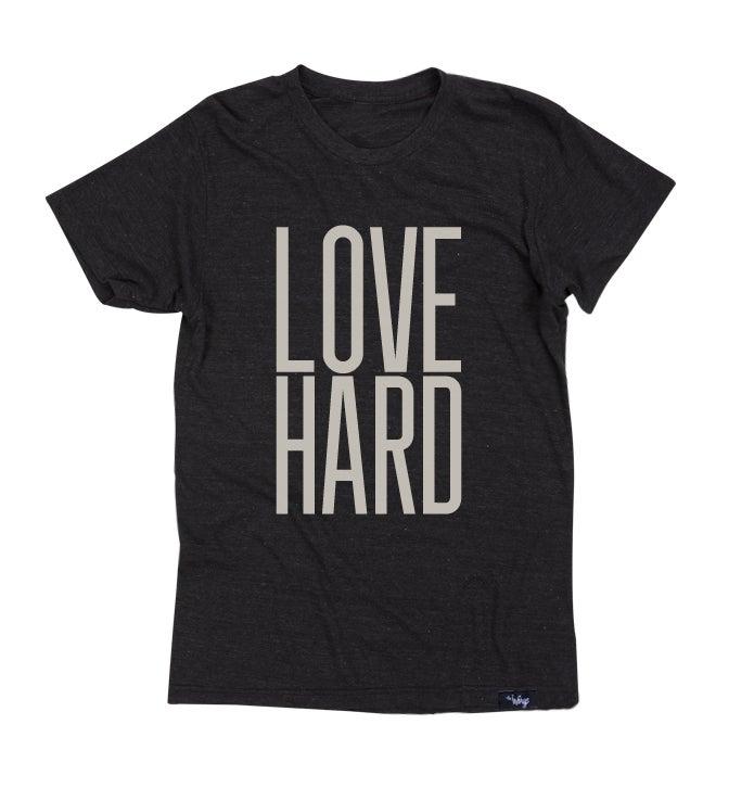 Image of Love Hard Tee (Tri-Black)