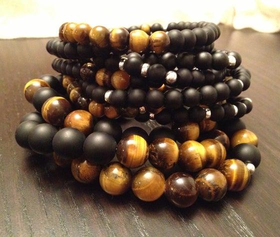Image of Tigers Eye Infinity Wrist Malas & Bracelets