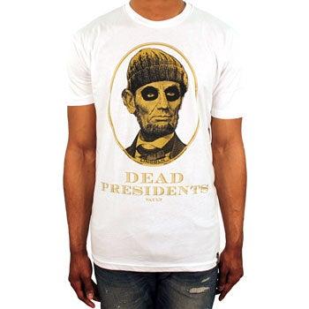 Image of Dead Presidents Tee (White/Metallic Gold)