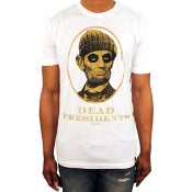 Image of Dead Presidents Tee (White/Metallic Gold)