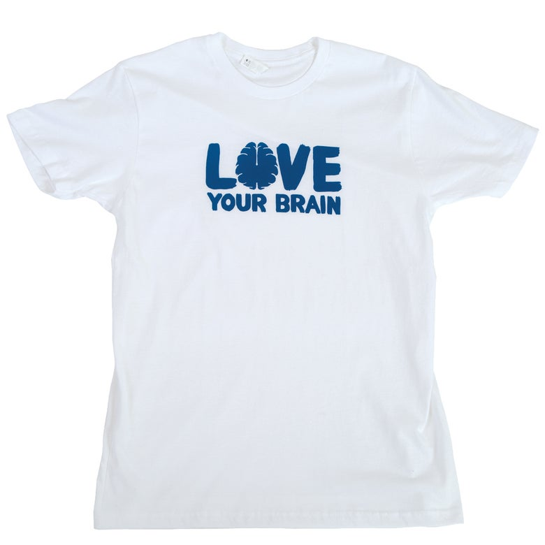 Image of LoveYourBrain T-Shirt: White
