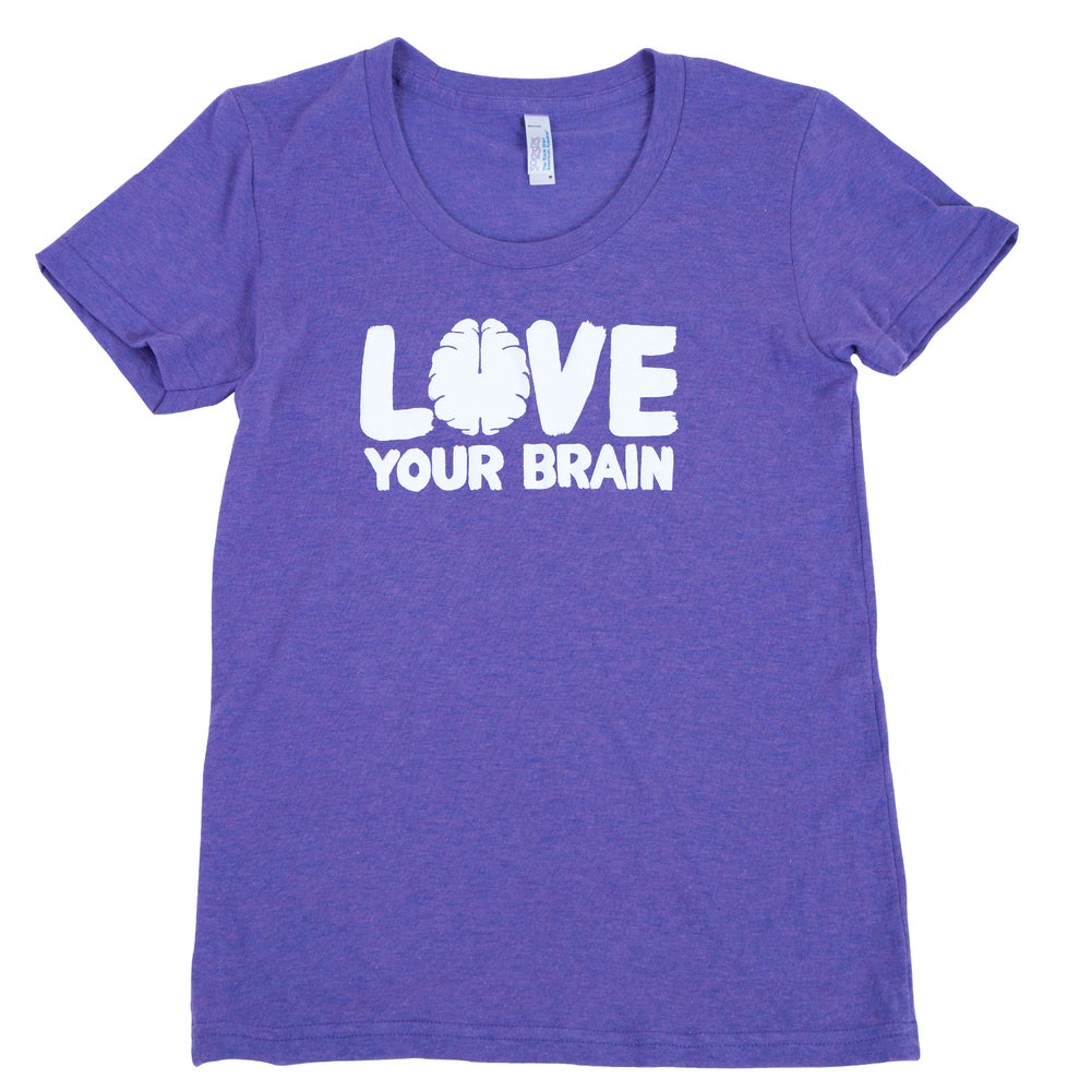 Image of Love Your Brain T-Shirt: Women's Orchid w/LYB Logo