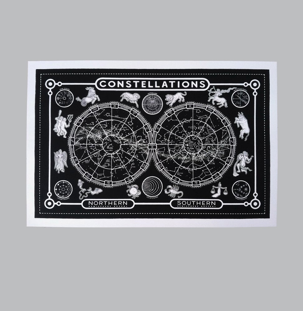 Image of Constellations - b/w/glow