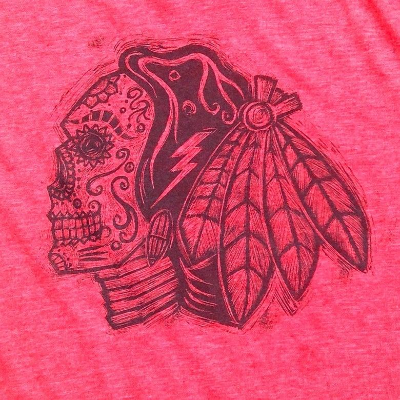 Image of Sugarskull Hawks Red Heather Tee