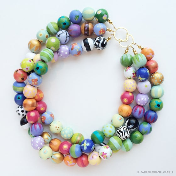 Image of lulu three strand necklace