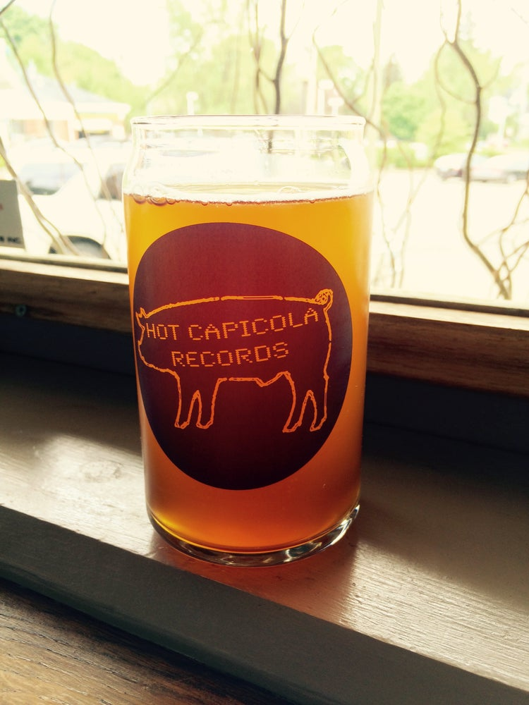 """Image of Hot Capicola """"Beer Can"""" Pint Glasses"""