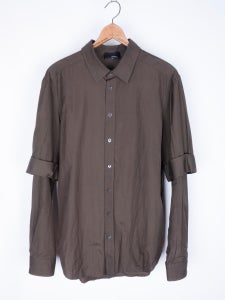 Image of Philip Lim - Fine Cotton Layered Sleeve Shirt