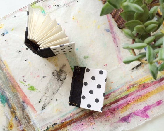 Image of blank mini journal // dotty
