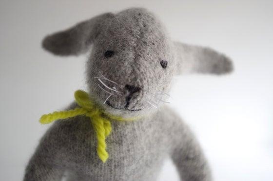 Image of Soft Wool Rabbits, sustainable toys