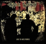 "Image of CRIPPLE BASTARDS - ""LIVE TO HATE PEOPLE"" VOL 1 & 2"" LP"