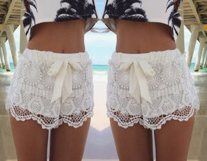 Image of CUTE LACE FASHION SHORTS
