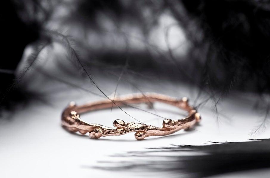 Image of ROSE GOLD TWIG RING