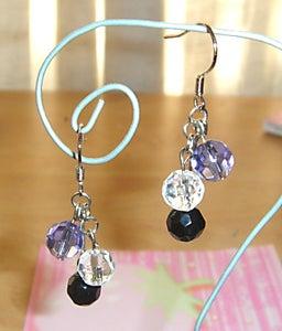 Image of HANDMADE Dangling Crystal Earrings