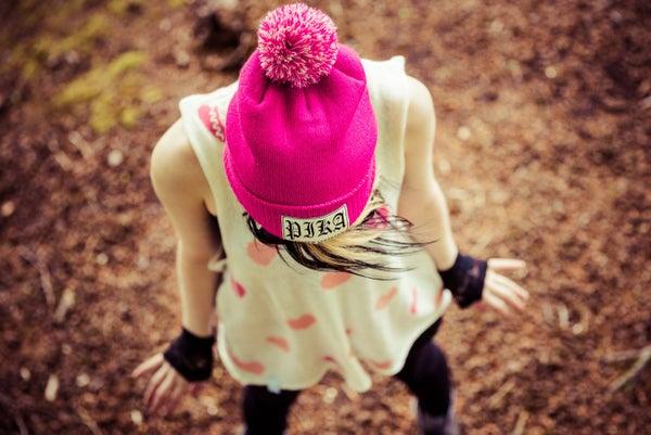 Image of Fuchsia Pink Bobble Beanie