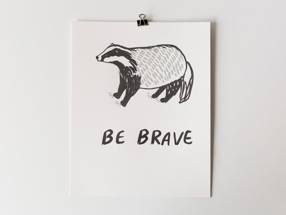 Image of Badger Be Brave Poster