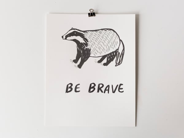 Image of Badger Be Brave Poster