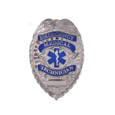 Image of EMT Badge - Zinc Alloy with Nickel Plating