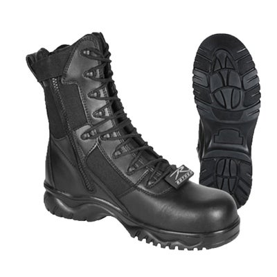 """Image of 8"""" Tactical Boot With Side Zipper & Composite Toe ~ Men's Sizes"""