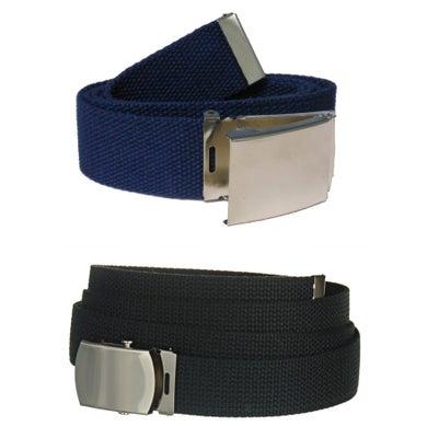 """Image of Canvas Web Belt - Black or Navy Blue, 44"""" & 54"""""""