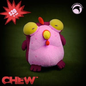 Image of CHEW Plush Chog - Beet Red KICKSTARTER EXCLUSIVE - SOLD OUT
