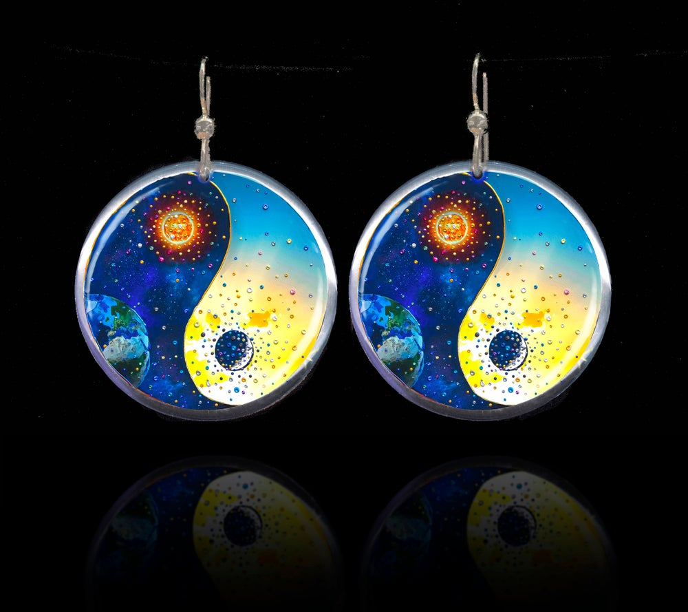 Image of Yin & Yang Energy Balancing Earrings