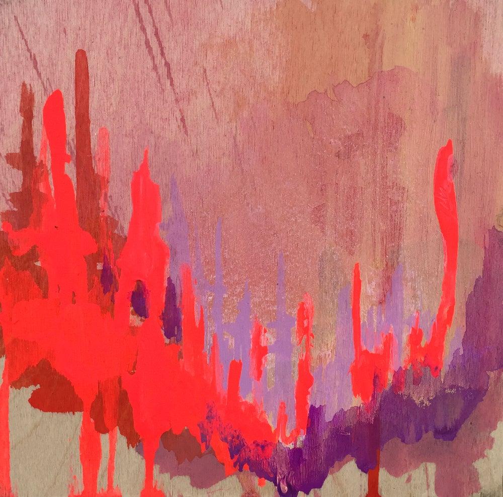 Image of Tiny Painting No. 9 (vermilion, rose, lavender)