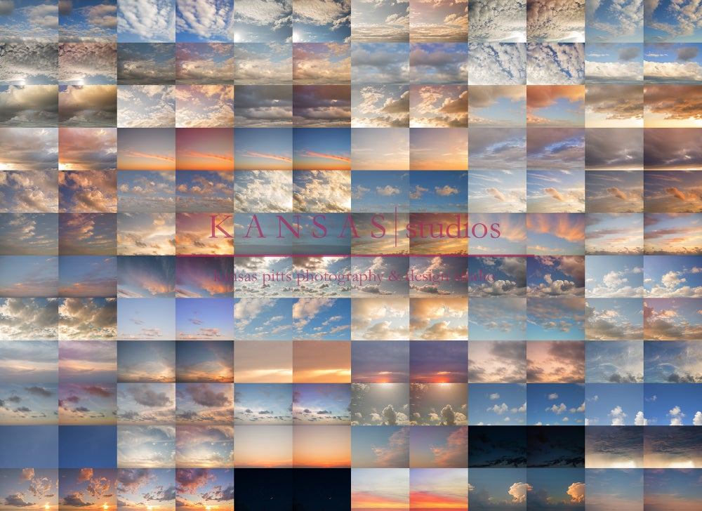 Image of Summer Love Sky Overlays and Element Bundle