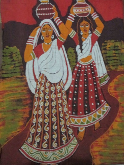 Image of Indian Cloth Painting from Kolkata