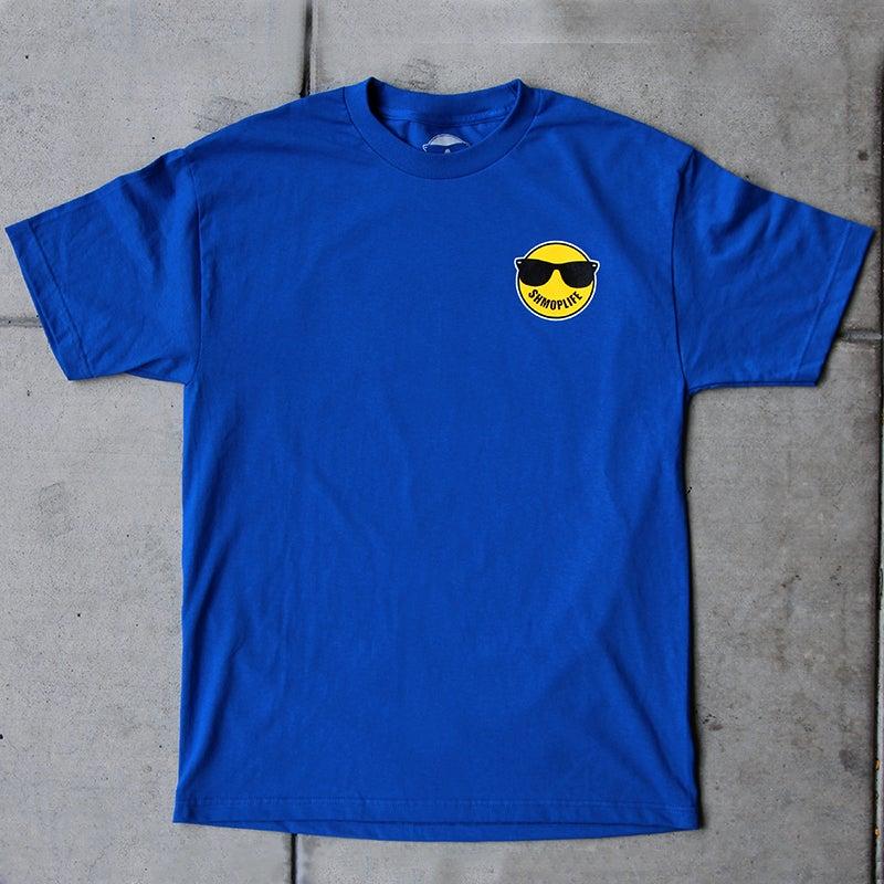 Image of SHMOPLIFE LOGO TEE (BLUE)