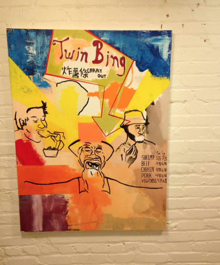 Image of 11:23PM (Carry out Collaboration)36x48''