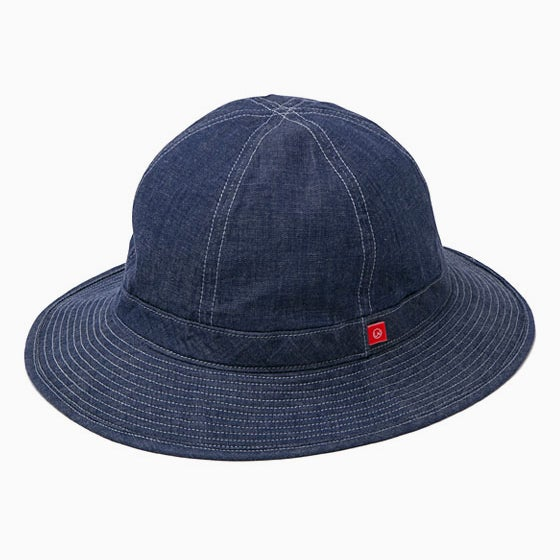 "Image of BEDWIN ""Delvon"" Military Denim Hat - INDIGO"