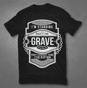 """Image of """"Standing Over The Grave"""" T-Shirt"""