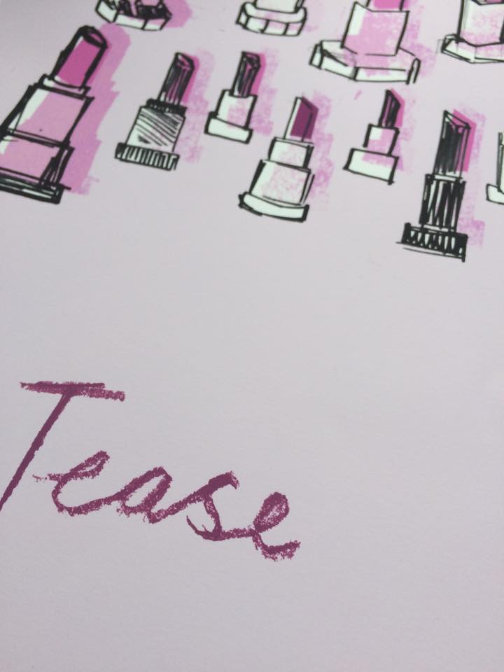 """Image of """"TEASE"""" LIMITED EDITION A3 GICLEE PRINT"""