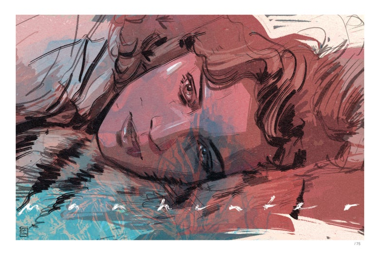 Image of Manhunter - Reba - Limited Edition Indigo Print