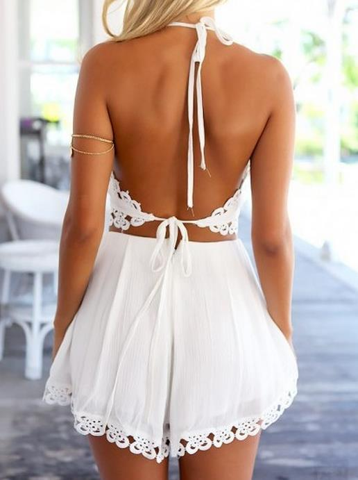 Image of V-neck backless sexy 2 dresses
