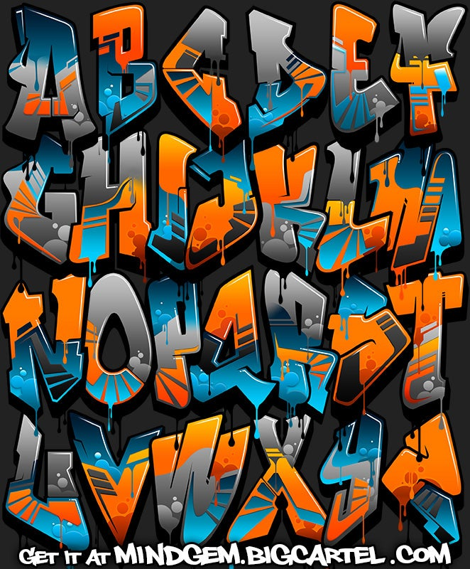 graffiti swag graffiti font gremlin. Black Bedroom Furniture Sets. Home Design Ideas