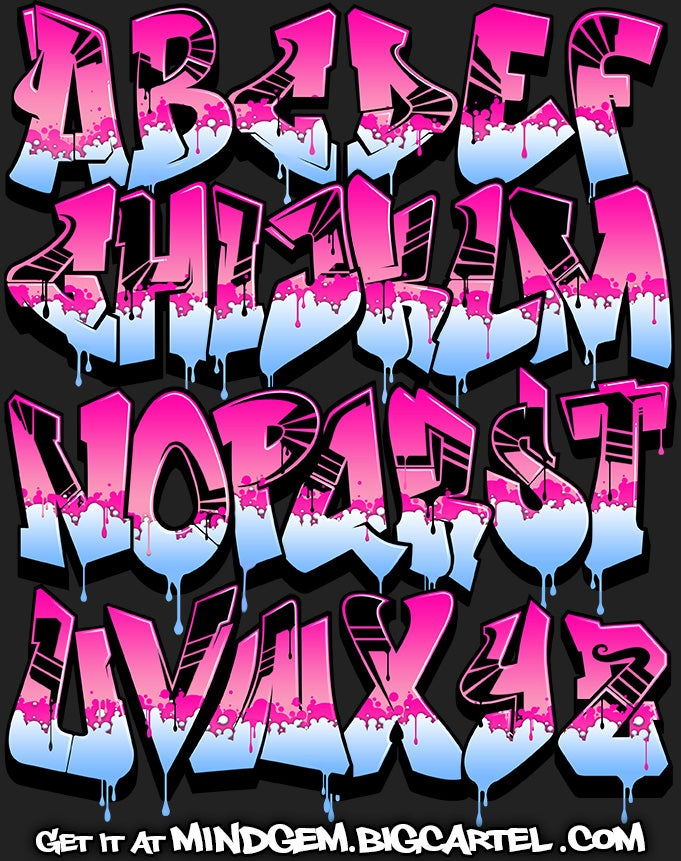 Image of Graffiti Font - Pink Power