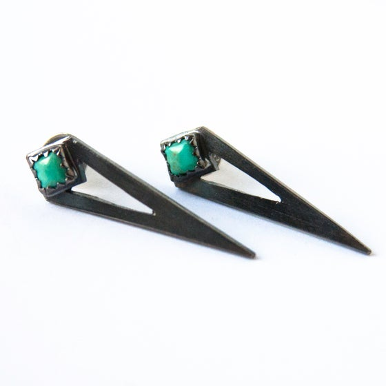Image of Turquoise Spike Studs