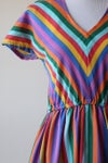 Image of SOLD Chevron Rainbows Dress