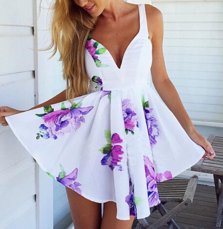 Image of Irregular bandage skirt hem DRESS