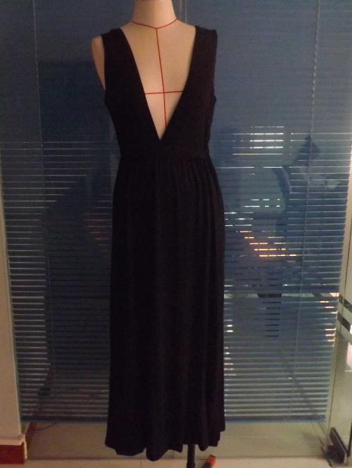 Image of Deep V fork cute dress