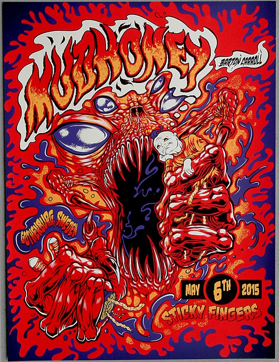 Image of MUDHONEY w/Barton Carrol Gig Poster